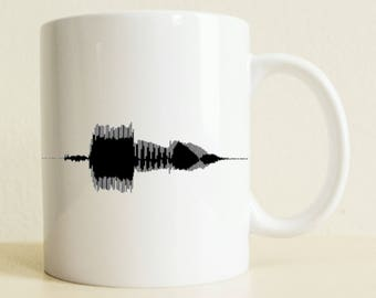 Waveform Mug | Coffee Mug | Music Lover | Birthday Gift | Unique Gift | Gift for Her | Gift for Him | Romantic Gift | College Student Gift