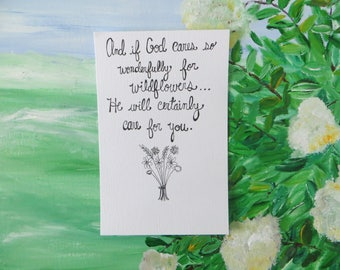 Unframed Wildflower Print