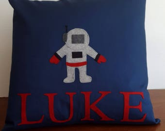Add a name, add personalization to pillow cover