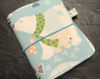 Travelers Notebook Fauxdori - A7 Micro Size -Extra Wide  Ready to Ship