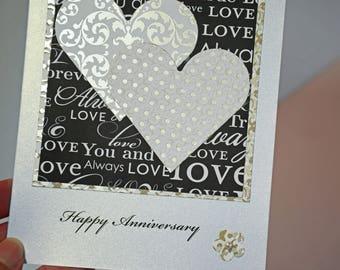 Happy Anniversary - Handmade Card - Love Forever