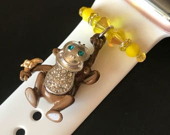 Apple Watch Slide on Charm Jewelry/Accessory/ Stop Monkeying Around Monkey