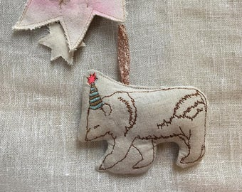 Single Machine Embroidered Party Bear, Lavender Scented, READY TO SHIP, Sachet
