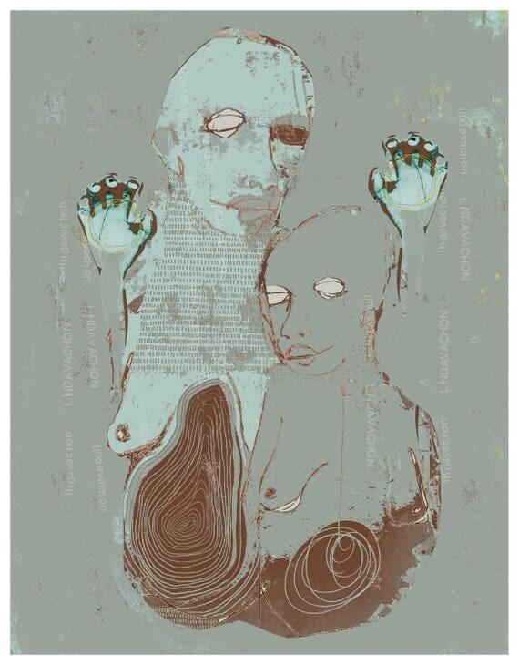 Illustration, fine art print, signed and numbered limited edition, linda v