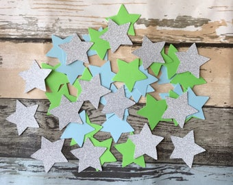 150pcs twinkle little star confetti it's a boy baby shower birthday decoration star party glittery star confetti table centrepiece 4.5cm/1.8