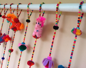 Horse Set A 100% Handmade Cute Doll Beads Curtain For Home Decoration (For Window)