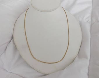 14k Yellow Gold Italy Vintage Snake Chain Necklace-Reserved!