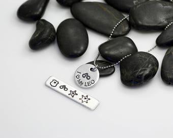 I Love My LEO Hand Stamped | Custom | Necklace