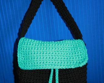Blue and black shoulder bag for everyday