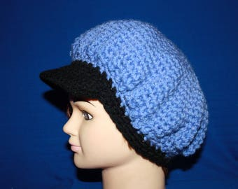 Blue and black winter Hat very warm