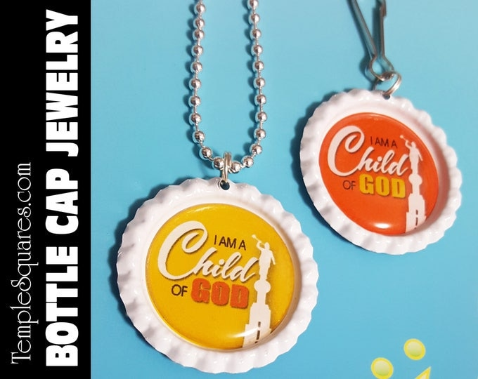 Zipper Pulls or Necklace I Am A Child Of God LDS Gifts - 2018 Primary Theme - Birthdays, Baptism, Great to be Eight Gift YW Jewelry