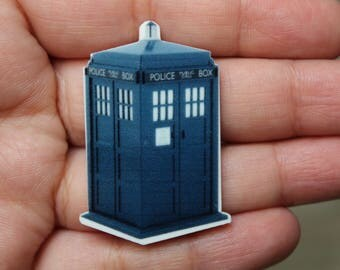 Doctor Who Inspired Brooch, Tardis Brooch