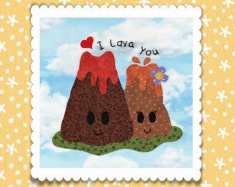 I Lava You Applique PDF Pattern