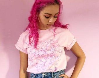 Peony t-shirt in Pink - lovestruck Prints - flower shirt - flower t-shirt