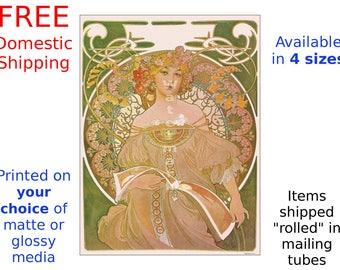 Alphonse Mucha: Reverie - Vintage Art Nouveau Poster/Print (186842686)