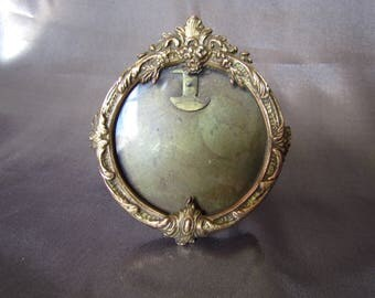 140 Small French Photo Frame, Golden Copper Frame, Photo Holder Louis XV Style, Rococo