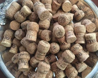 58 Champagne  Used Wine corks  / recycled corks /  natural corks .