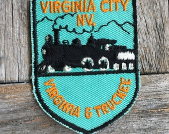 Virginia & Truckee Railroad, Virginia City Nevada Vintage Travel Patch - LAST ONE!