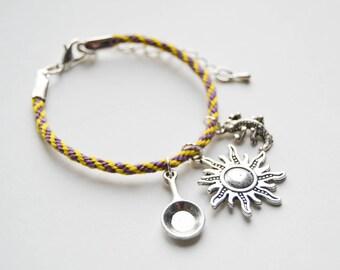 Tangled Inspired Friendship and Charm Bracelet