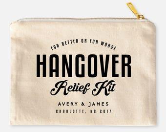 Custom Hangover Survival Kit,  Personalized Wedding Survival Kit, Bridesmaid Makeup Bags, Wedding Hangover Kit Cosmetic Bags, Relief Kits