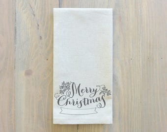 Merry Christmas Napkin_Christmas, table setting, tableware, place setting, housewarming gift, party, dinner, event