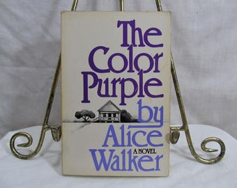 the color purple alice walker published by harcourt 1982 paperback vintage book - The Color Purple Book