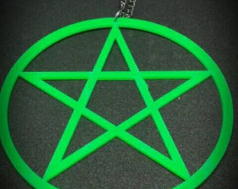 Statement Pentagram Necklace Huge Pendant Witch Craft Pagan Occult