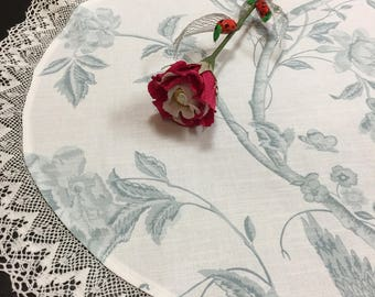 Round Tablecloth Doily Cotton Fabric Linen Lace 27 inches