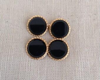 1910's onyx cufflinks.
