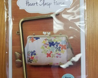 Heart Clasp Purse Pattern Purse Clasp Included! Zakka Workshop Pattern