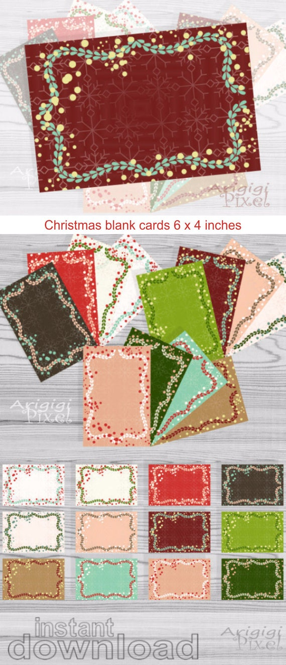 Holiday Greeting card frames 6 x 4 inches - Christmas blank card