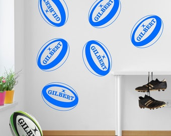 Rugby Balls Sports Wall Stickers Decal A18