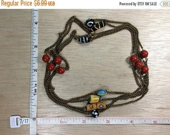 """10% OFF 3 day sale Vintage 56"""" Gold Toned Beaded Necklace Used"""