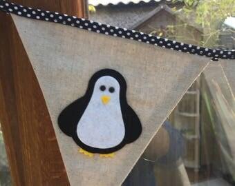 Penguin Bunting, Animal Bunting, Christmas Bunting