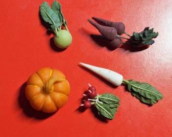 Dollhouse Miniature: Winter Vegetables