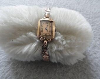 Vintage Wind Up Hamilton 14k Gold Filled Ladies Watch