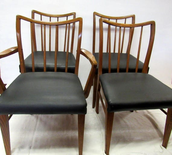Tiger Oak Mid Century Modern Chairs