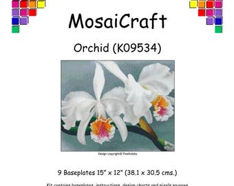 MosaiCraft Pixel Craft Mosaic Art Kit 'Orchid' (Like Mini Mosaic and Paint by Numbers)