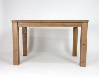 Small Table, Reclaimed Wood Parsons Table