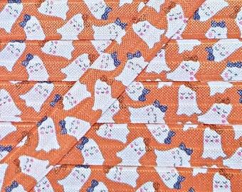 5/8 WATERCOLOR GHOSTS Fold Over Elastic