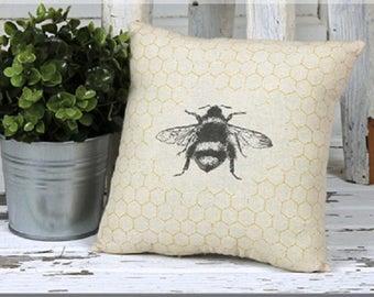 Bee & Honeycomb Pillow
