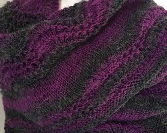 Ombre wrap shawl