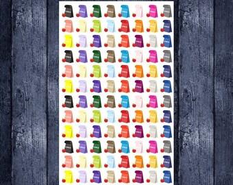 Weekend Sale Lunch Bag stickers for your erin condren life planner, happy planner, filofax, kikki k or any planner