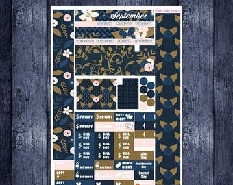 Weekend Sale September Monthly Stickers for Personal Planner Sew Much Crafting Month View