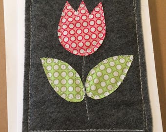Handmade Spring Flower Card - Tulip - Mother's Day, Birthday, Thank You