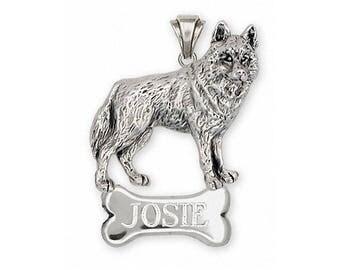 Siberian Husky Pendant Jewelry Sterling Silver Handmade Dog Pendant SB2-NP