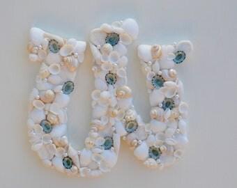 Beach Decor, Seashell Letters, Shell Letters, Seashell Initial, Nautical Decor, One Shell Letter, Nursery Decor, Beach Wedding Decor