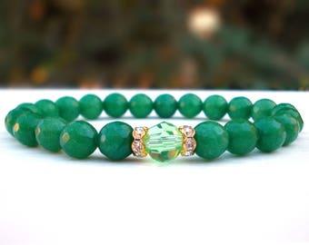 Prosperity Aventurine Crystal bracelet, Gemstone women bracelet, Crystal bracelet for Her, Aventurine bracelet, Gift for her, Women bracelet