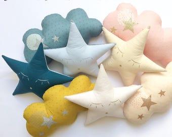 Choose from-a star in my cabin star cushion
