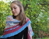 Un air de fleuve - Crochet Shawl Pattern - Advanced Crochet Pattern - Fingering Yarn Shawl Pattern - Unisex Shawl Scarf Crochet Pattern